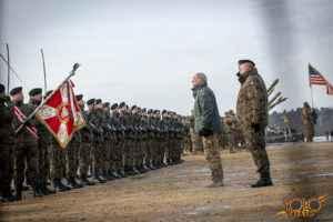 organizacja uroczystości w Żaganiu - wystąpienie Prezydenta