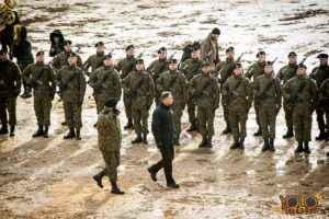 organizacja uroczystości - Żagań woj. lubuskie - wystąpienie prezydenta