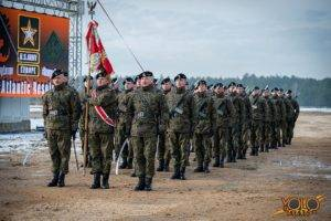 polsko-amerykańskie ćwiczenia wojskowe w Żaganiu - uroczystość