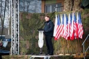 Żagań - przemówienie Ministra Obrony Narodowej