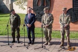 armia USA w Żaganiu - Żelazna Brygada - uroczystość