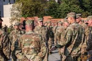 Żagań woj lubuskie opuszcza Żelazna Brygada 4. dywizji piechoty z Fort Carson w stanie Colorado